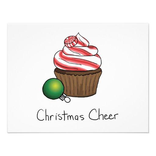 Cupcake do Natal Convites