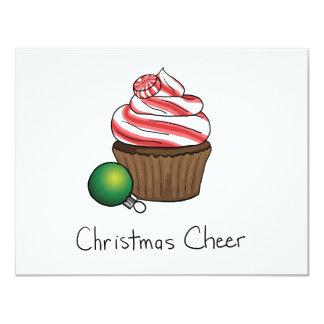 Cupcake do Natal Convite 10.79 X 13.97cm