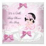 Cupcake do Teacup do bebê do rosa da menina do chá Convites Personalizados