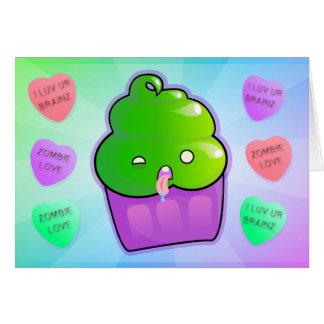 Cupcake do zombi cartão comemorativo