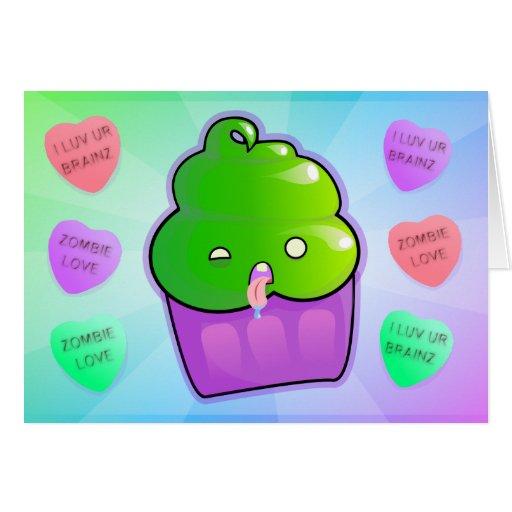 Cupcake do zombi cartão
