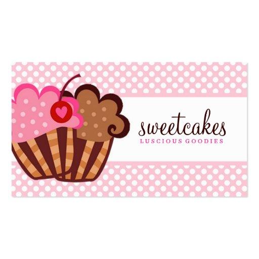 Cupcake doce de 311 bolos cartao de visita