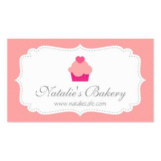 Cupcake elegante, moderno, cor-de-rosa, padaria cartão de visita