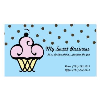 Cupcake fino extravagante cartão de visita