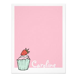 Cupcake Notecard liso Convites