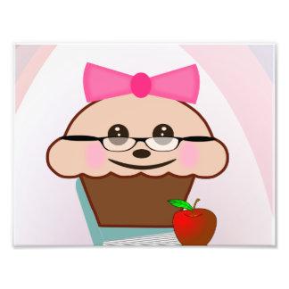 Cupcake para o professor impressão de foto