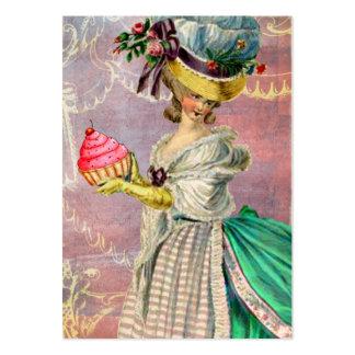 Cupcake & pássaro de Marie Antoinette dos Gateaux  Cartão De Visita Grande