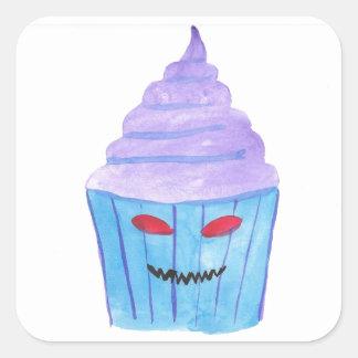 Cupcake possuído adesivo quadrado