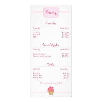 Cupcake Rackcard da padaria 10.16 X 22.86cm Panfleto