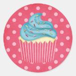 cupcake saboroso adesivos redondos