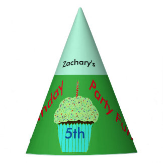 Cupcake verde chapéus personalizados do
