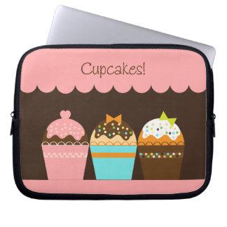 Cupcakes - a bolsa de laptop bolsa e capa de notebook