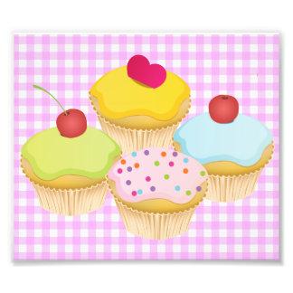Cupcakes bonitos impressão fotográfica