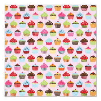Cupcakes bonitos impressão de foto