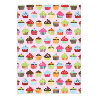 Cupcakes bonitos convites personalizados