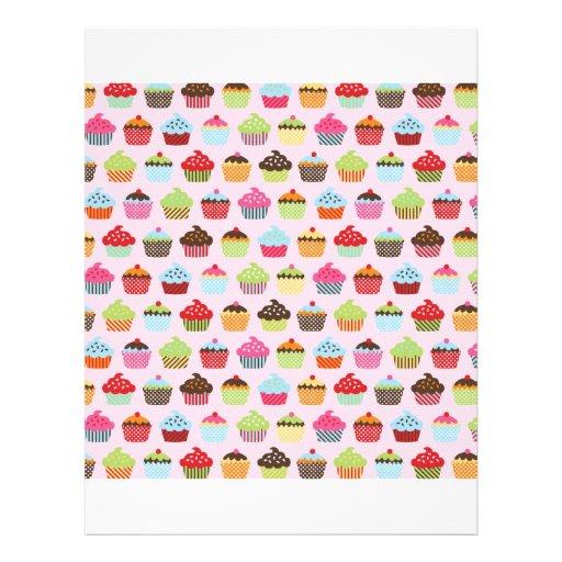 Cupcakes bonitos panfleto personalizados