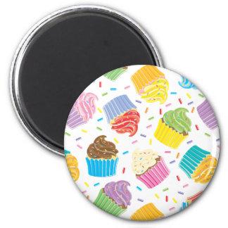 Cupcakes coloridos ímãs