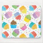 Cupcakes coloridos mousepad