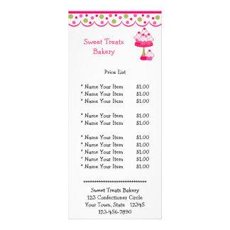 Cupcakes cor-de-rosa panfletos informativos