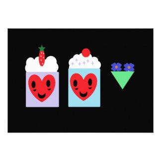 Cupcakes do casamento do zombi convites personalizado