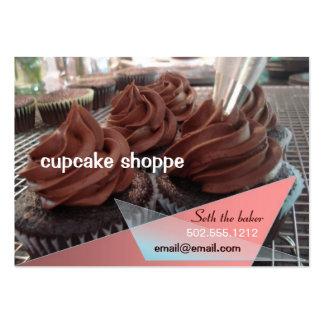 cupcakes do chocolate cartão de visita grande