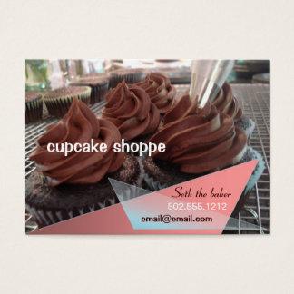 cupcakes do chocolate cartão de visitas