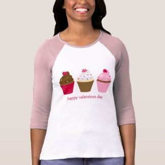 Cupcakes do dia dos namorados feitos sob encomenda camiseta