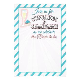 Cupcakes e chá de panela de Champagne Convite