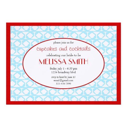 Cupcakes e cocktail convite personalizados