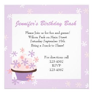 Cupcakes e estrelas convites