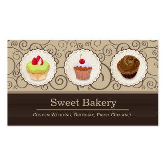 Cupcakes feitos sob encomenda bonitos - loja doce cartão de visita