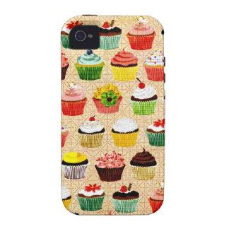Cupcakes saborosos do vintage capinhas para iPhone 4/4S