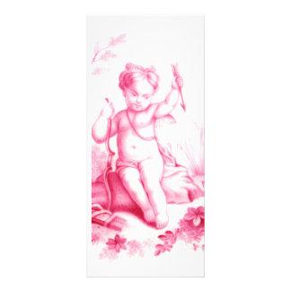Cupido da porcelana de Coalbrookdale, pintado 1865 Panfleto Personalizado