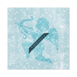Cupido estrelado impressão de canvas esticadas