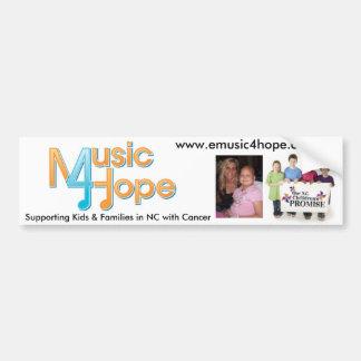 Cura através dos sons da música & da esperança adesivo para carro