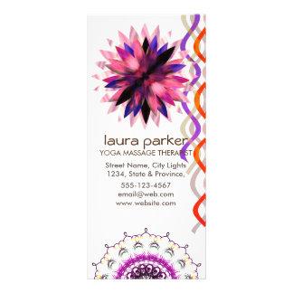 Cura da ioga da aguarela da flor de Lotus 10.16 X 22.86cm Panfleto