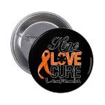 Cura do amor da esperança da leucemia botons