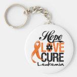 Cura do amor da esperança da leucemia chaveiros