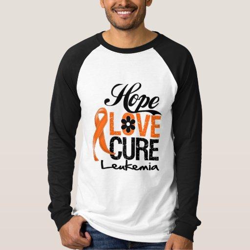 Cura do amor da esperança da leucemia tshirts