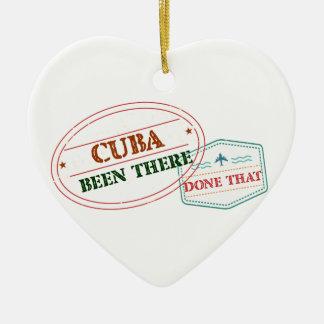 Curaçau feito lá isso ornamento de cerâmica coração