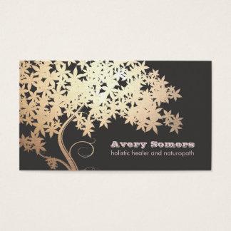 Curandeiro holístico da saúde da árvore do ouro cartão de visitas