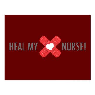 Cure meu cartão da enfermeira do coração