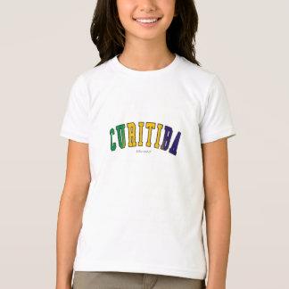 Curitiba em cores da bandeira nacional de Brasil T-shirt