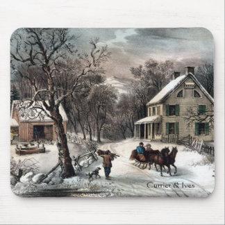 Currier & inverno americano Mousepad da herdade de