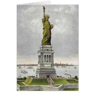 Currier & Ives - cartão - estátua da liberdade
