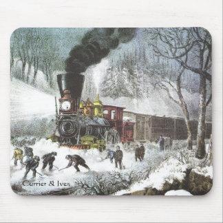 Currier & mousepad Snowbound da cena da estrada de