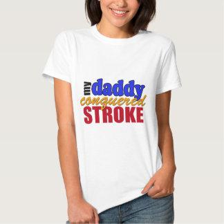 Curso conquistado pai camisetas
