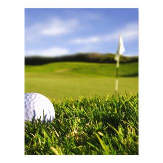 Curso da bola de golfe papéis de carta personalizados