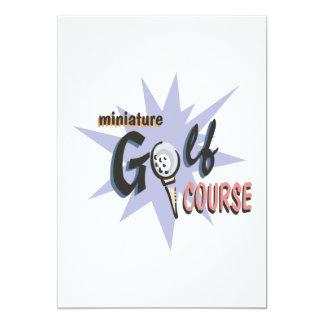 Curso de mini golfe convite 12.7 x 17.78cm