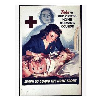 Curso Home bruto vermelho dos cuidados da Tomada-U Panfleto Personalizado